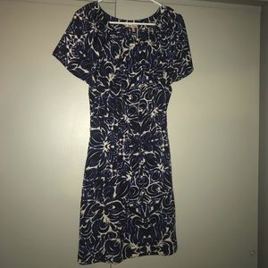 Juicy Couture size 8 blue, white, and black dress